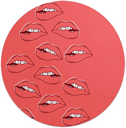 Loud Universe Lips Lust Pattern Lips Eat You Round Flexible Mouse Pad