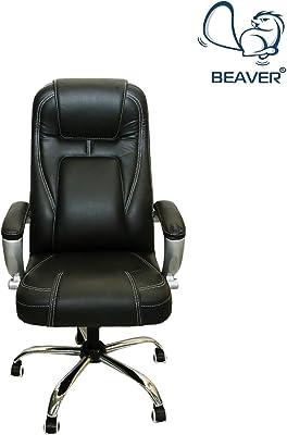 Beaver by Spectrum High Back Revolving Executive Boss/Gaming/Computer/Office/Ergonomic Healthy Chair (Standard, Black - BSM05)