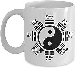 Kung Fu Mug - Yin Yang Tai Chi Ba Gua - Martial Arts Chinese Character Language Coffee Mugs Ceramic 11oz - Chinese New Year Gift for Feng Shui Masters and Students - Taoism Zen Tea Cup (YIN version)