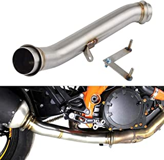 D-Modern- Motorcycle Exhaust Muffler Link Pipe Eliminator Down Pipe For Ktm 1290 Super Duke R Superduke R 2014 2015 2016 Stainless Steel