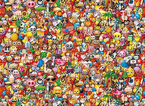 JGDYMX Giocattoli - Puzzle 3D Legno Giochi giocattol Accessori Poster Decorativo Adulti Arte Bambini DIY - Emoji - Regalo -38 * 52cm-500 Pezzi