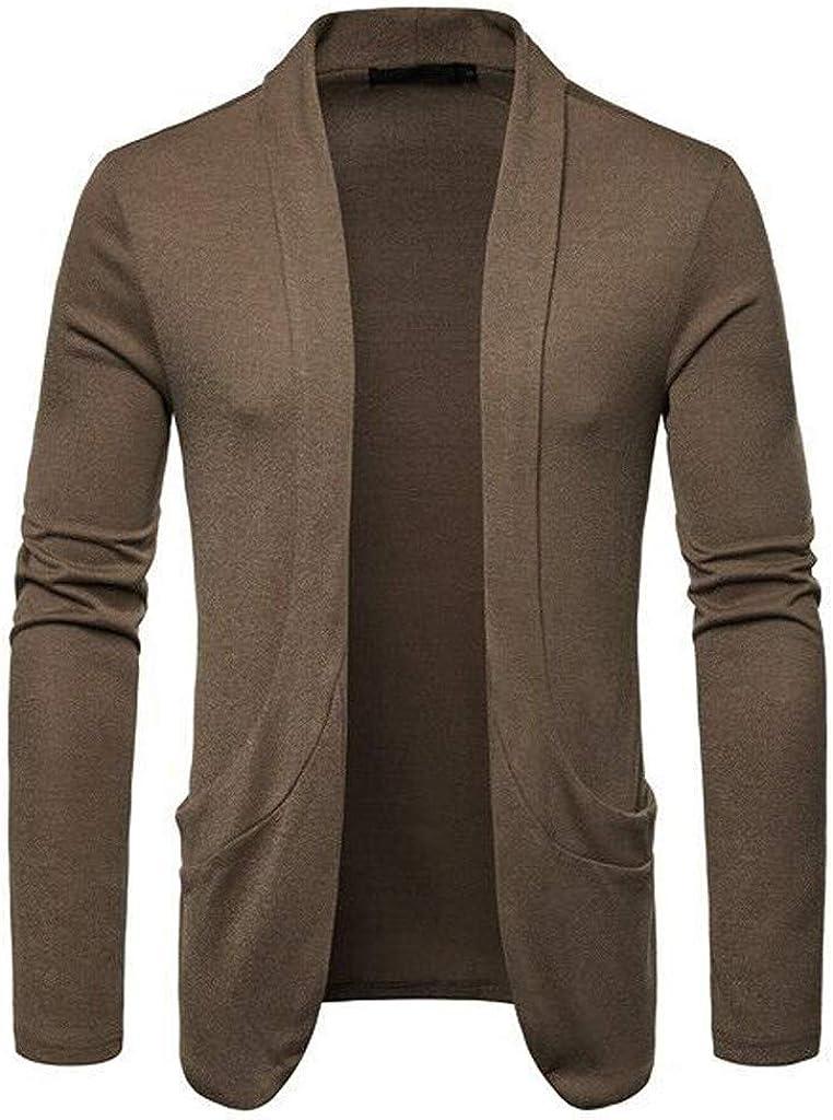 MODOQO Men's Cardigan Sweater Coat Loose Fit Sweatshirts Outwear