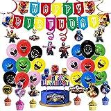 Wang Shin Supermansschaft Thema Geburtstag Ziehen Flagge Krieger Ballon Spirale Hängende Kuchen Plug-In Dekoration liefert