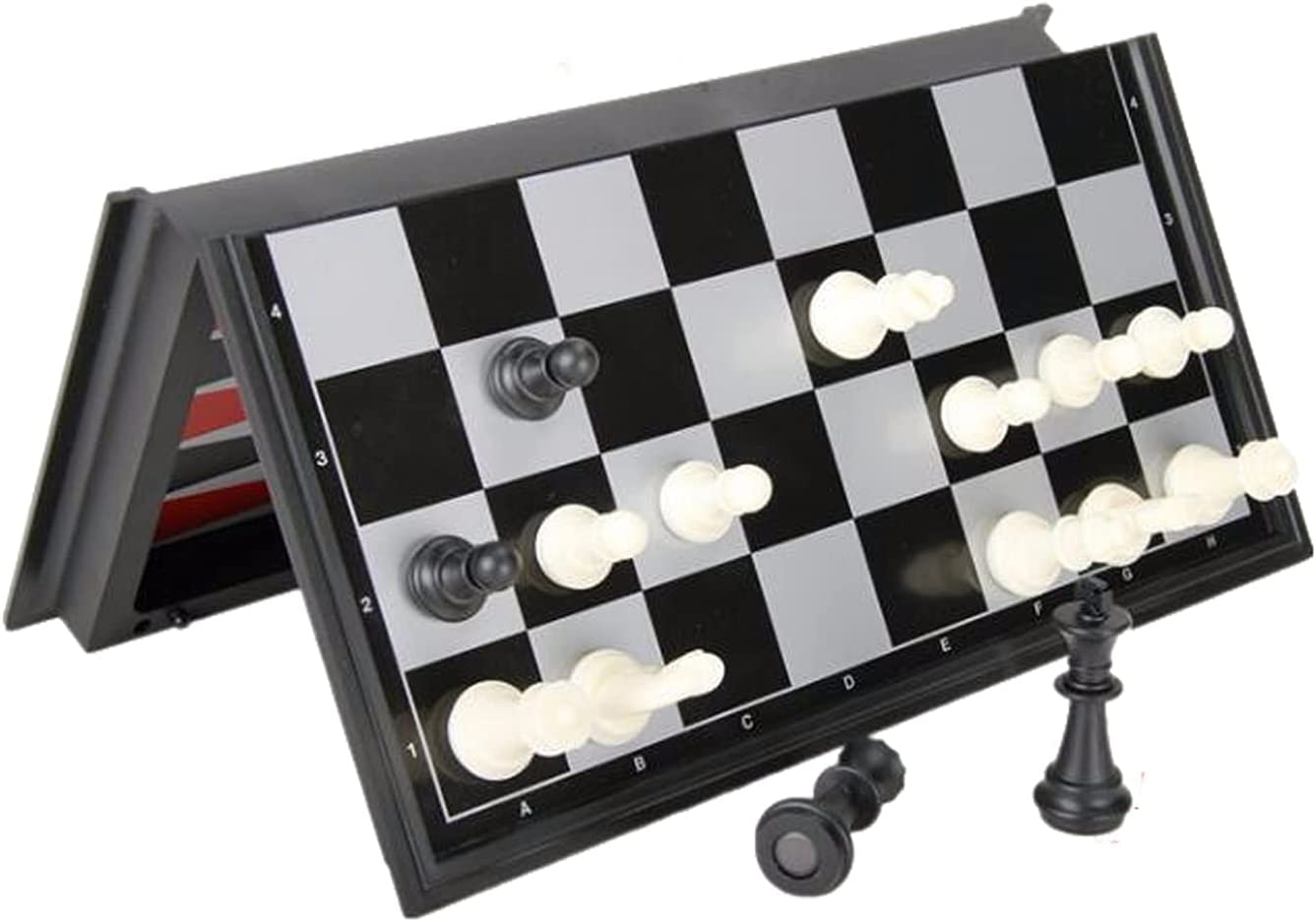 Be super welcome ZZHH 3-in-1 Wooden Chess Set Chessboard Game Folding New sales Check