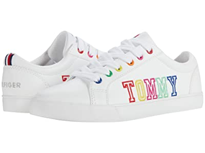 Tommy Hilfiger Kids Arrin (Little Kid/Big Kid) (White/Rainbow) Girl