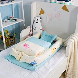 SXFYGYQ Crib Comfortable Breathable Detachable and Washable Isolation Bed Newborn Portable Bionic Beds B 90X55X15CM