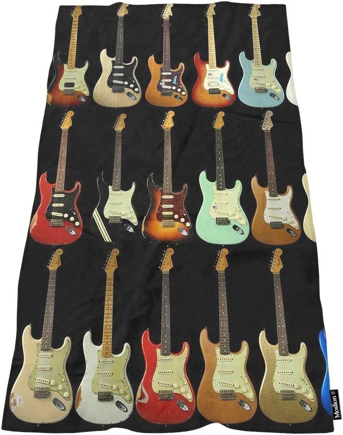 Moslion Sale SALE% OFF Soft Bath Towels Musical 2021new shipping free Comfy Bathing Instrument Guitar