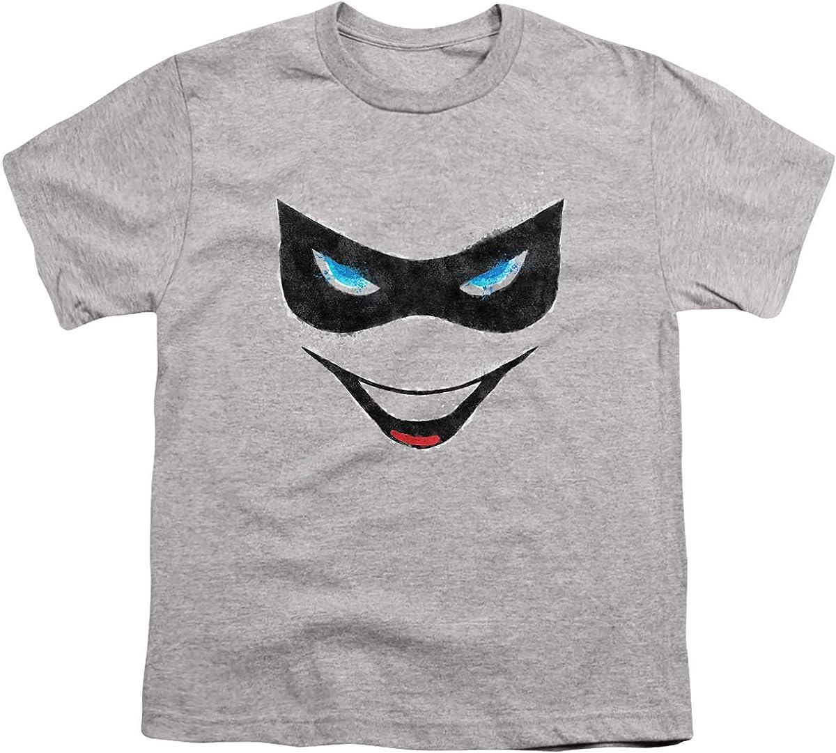 Batman Harley Face Unisex Youth T Shirt