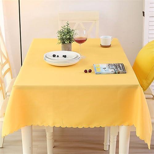 WERLM La créativité Table rectangula Moderne Cuisine Nappe en Tissu,Jaune, 140  180cm