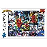 Trefl- Poster mit Superhelden, Marvel Spiderman 500 Teile, Premium Quality, für Erwachsene und Kinder AB 10 Jahren Puzzle, Multicolor (37392)