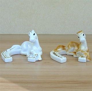 WDDqzf Ornaments Adornos Escultura Figurilla Estatuas Ornamentos Pony Creativo Herradura Estatuilla Cerámica Decorativa Caballo Ferro Cavallo Único Ornamento Artes Y Artesanía Accesorios De La Baratij