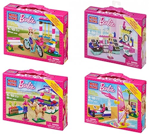 Mega Bloks Barbie Build & Play Sets of 4