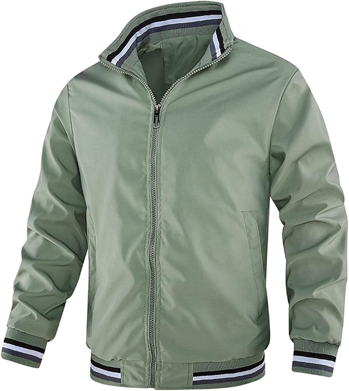 Burband Mens Lightweight Flight Bomber Jackets Softshell Windproof Windbreakers Hipster Varsity Jackets Sports Coats