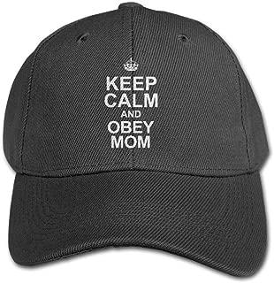Keep Calm and Obey Mom1 Kid/Child Adjustable Snapback Curved Visor Baseball Caps Toddler Custom Hat