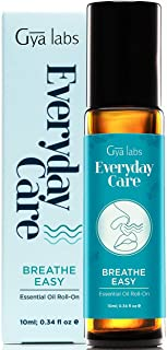 Sponsored Ad - Gya Labs Breathe Easy Essential Oil Roll On - Peppermint & Eucalyptus For Sinus & Congestion Relief (10ml) ...