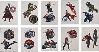 Marvel Avenger Super Hero Tattoos - Set of 10 Temporary Tats