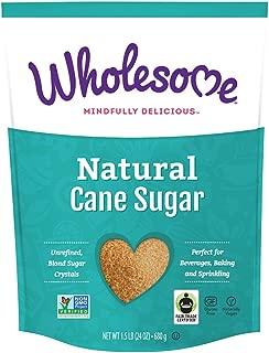 Wholesome Natural Cane Sugar, Fair Trade, Unrefined, Non GMO & Gluten Free, 1.5 Pound (Pack of 6)