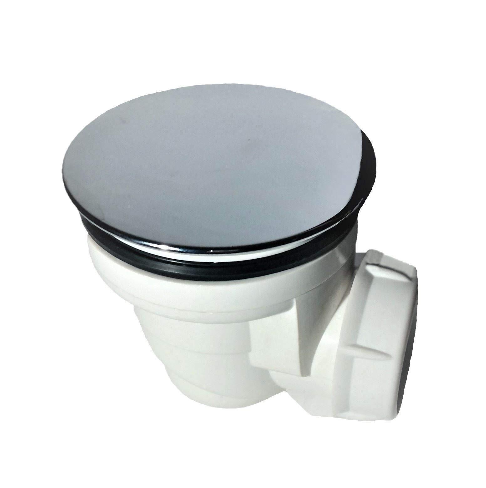 Válvula de desagüe con tapa cromada para platos de ducha de 60 mm ...