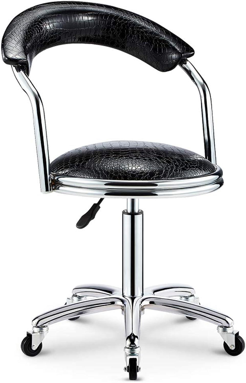 Hai Yan Boutique Bar Chair redary Chair Bar Chair High Bar Stool Back Stool High Stool Front Desk Chair Leisure Chair (color   Black, Edition   A)