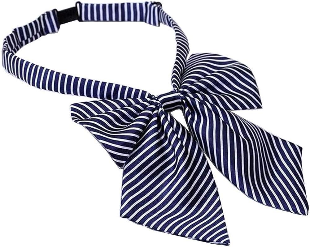 Women Uniform Bow Ties Ladies Shirt Bowties Adjustable Bow-knot Ties #02