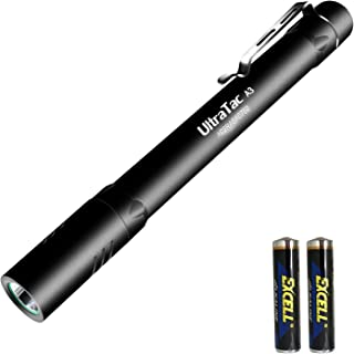 AIDIER A3 Pen Light LED Flashlight, Super Bright 380 Lumens Penlight with CREE LED AAA Battery, IPX-8 waterproof EDC Pen Flashlights with 3 Lighting Modes for Nurses Emergencies Outdoor Activity