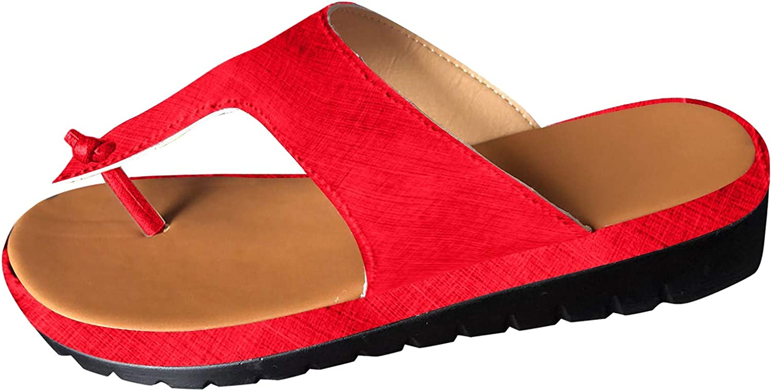 SmallYin Max 63% OFF Dealing full price reduction Women's Comfortable Thong Wedge Summer Sandals