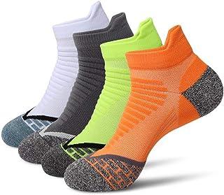 DERKUE Athletic SocksComfort Breathable Sports socks 4 pairs Ankle Socks for women & men