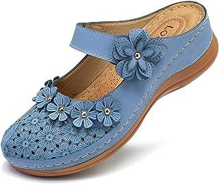gracosy Träskor för kvinnor sommar mulor träskor skor dra på tofflor stängda tå komfort rygglösa sandaler damer utomhus st...