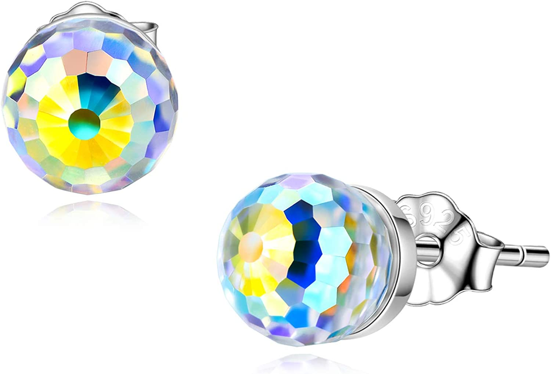100% quality warranty! AOBOCO Stud Earrings for Long-awaited Women S925 Si Hypoallergenic Sterling -