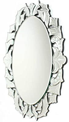 IndianShelf Handmade Clear Glass Wall Venetian Mirror (1 Piece)