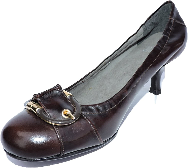 Stuart Weitzman Womens Hinge Brown Leather Designer Pumps Heels Size 6 M