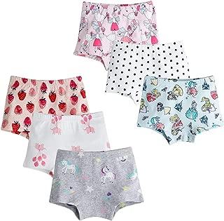 Confezione da 6 Kidear Intimi per Bambini di Serie Kid Mutandine Culotte in Cotone per Bambine Piccole