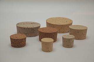 Lot de 10 bouchons en liège naturel - 70 x 65 mm - Hauteur : 30 mm