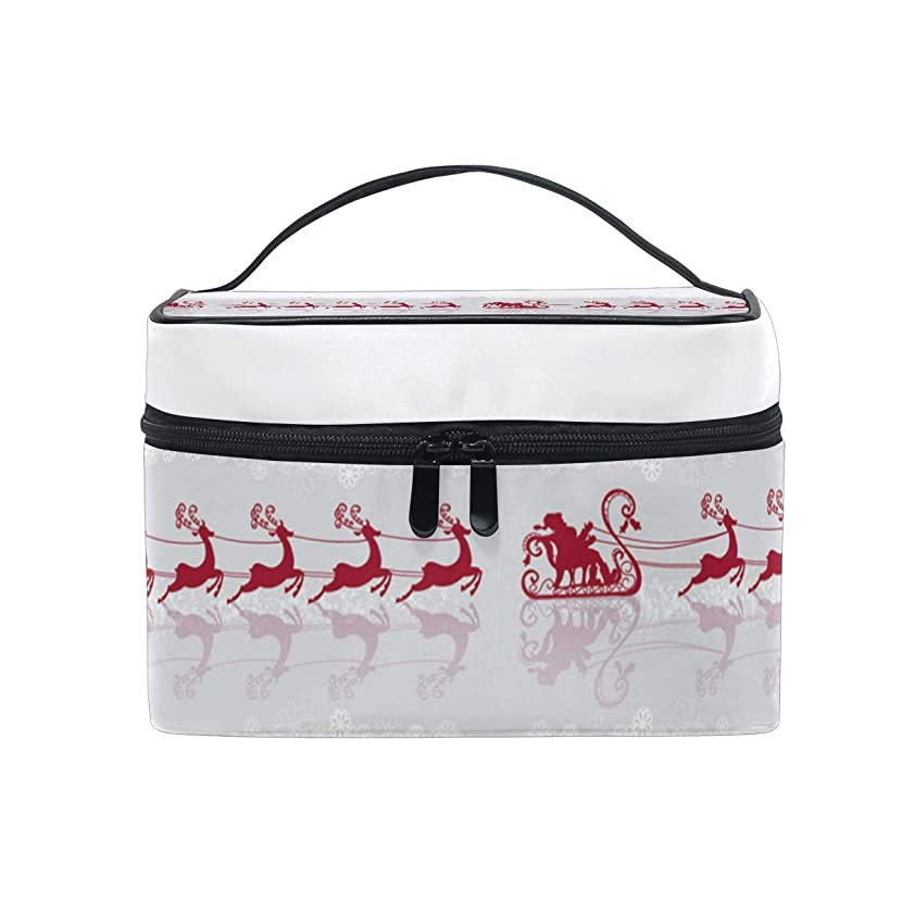Santa Claus In The Snow ReflectionMultifunction Travel Makeup Bag,Fashion Waterproof Portable Cosmetic Bag,Hot Home Large Capacity Makeup Pouch.