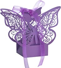 Aspire 50 PCS Butterfly Laser Cut Favor Boxes Wedding Gift Boxes for Party Favors