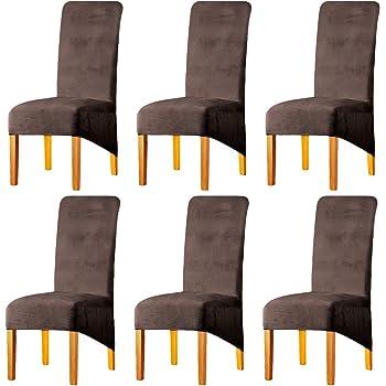 Housse de chaise de salle à manger en velours extensible