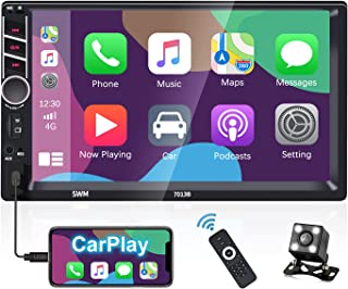 $83 » Sponsored Ad - Double Din Car Stereo Carplay Voice Control - 7 Inch Touchscreen Car Radio Bluetooth FM Receiver Wireless R...