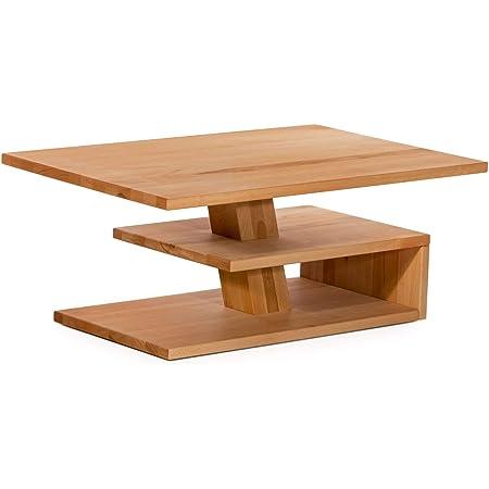 Marque Amazon -Alkove Hayes - Table basse à étagère, 110x70x45cm, C-ur de hêtre