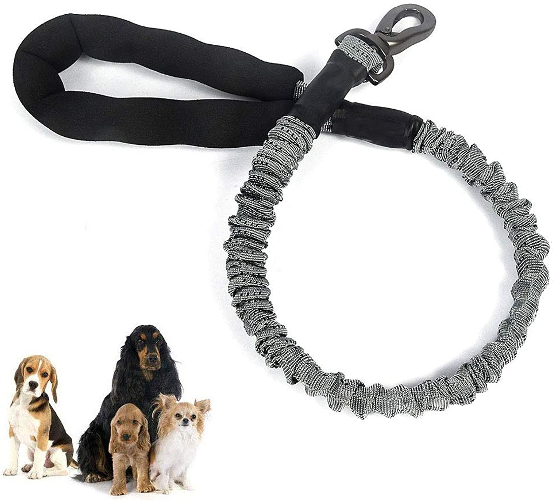 Rope Dog Leash  Short Elastic Bungee Leash Comfortable Padded Handle, Nylon Walking Dog Leash Medium Large Dogs Breed,M