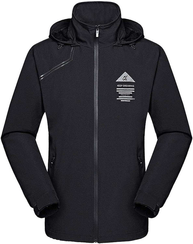 Rdruko Women's Waterproof Jacket Hiking Climbing Sportswear Outdoor Softshell Rain Jacket with Hooded