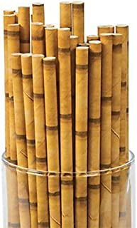 Kicko Bamboo Paper Straws - Pack of 24-7.75 Inch Biodegradable Drinking Straws - Eco-Friendly