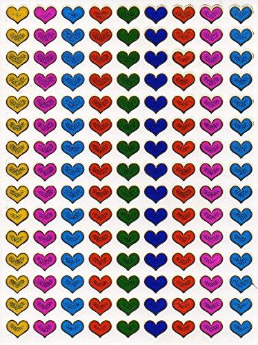 by soljo Coeur d'amour Colore Decal Autocollant de décalque 1 Metallic Glitter Dimensions de la Feuille: 13,5 cm x 10 cm