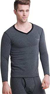 Men's Thermal Plus Velvet Thickening Underwear Sets V Neck Slim Cotton Warm Thermo Autumn And Winter Clothing Long Pants L...
