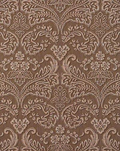 3D Barock-Tapete Präge Tapete Vintage damask EDEM 755-25-AP Braun platin schattierung