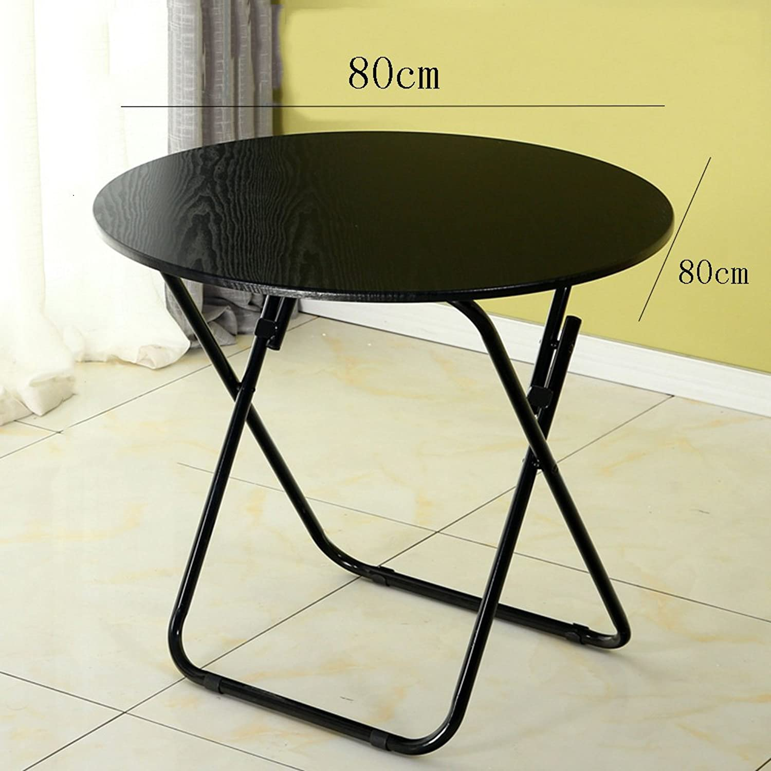 ZHPRZD Folding Table Dining Table Eating Table Household Small Apartment Dining Table Round Table Geblackus Table Simple Simple Portable Square (Size   80  80cm)