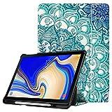 Fintie Hülle für Samsung Galaxy Tab S4 10.5 2018 mit S Pen Halter - Ultra Schlank Ständer Schutzhülle Case mit Auto Schlaf/Wach Funktion für Samsung Tab S4 10.5 Zoll Tablet T830/T835, smaragdblau