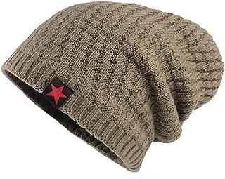 LENXH Solid Color Plus Velvet Hat Collar Kit Pleated Caps Autumn and Winter Plus Velvet Hat Fashion Simple Cotton Cap