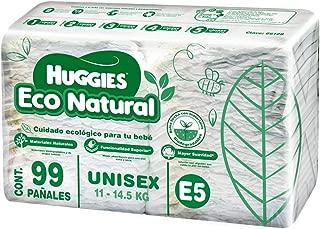 Huggies Eco Natural, Pañales Ecológicos para Bebé, Etapa 5, Paquete de 99