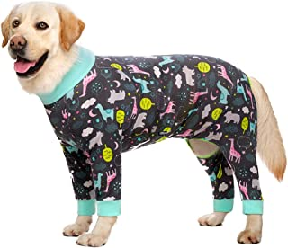 Miaododo Dog Pajamas Jumpsuit for Medium Large Dogs,Lightweight Adorable Dog Pjs Clothes Large Size Dog Apparel Onesies,Sh...
