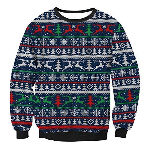 Ugly Weihnachtspullover Herren Lustige Xmas Pullover Weihnachten 3d Damen Hässliche Weihnachtspulli Sweatshirt Weihnachts Santa Pullis Christmas Sweater Weihnachtspullis Pärchen Winterpullover L